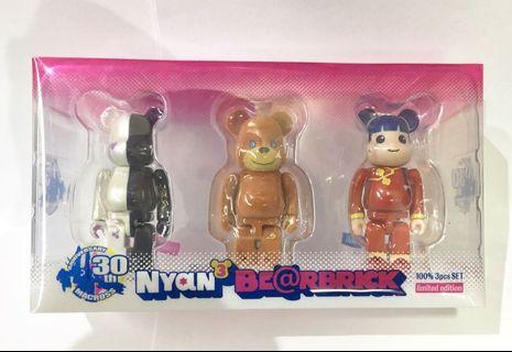 Bearbrick 100% Kitten Nyan 3pcs