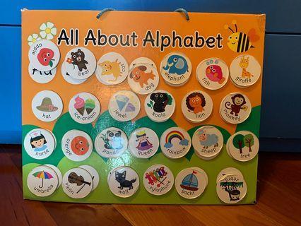 Alphabet Magnetic board