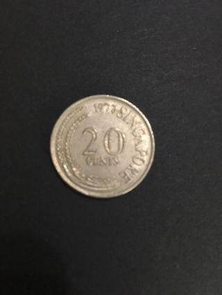 1977 20 cents coin