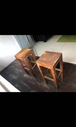 Wooden bar stools x2 #homerefresh30