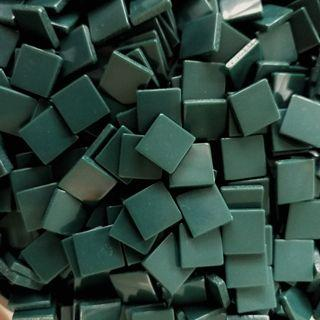 🚚 Spruce Dark Green Craft Resin Acrylic Mosaic Tiles Large (10mm x 10mm x 2mm)