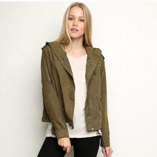 Brandy Melville green army jacket