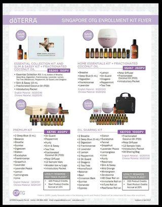 🚚 Doterra Enrollment Essential oil kits