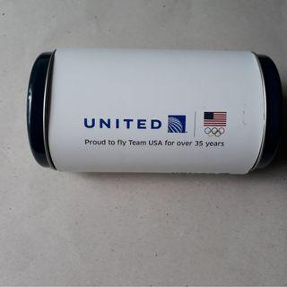United Airlines Amenity kit, Team USA Tin Global First, White Tin