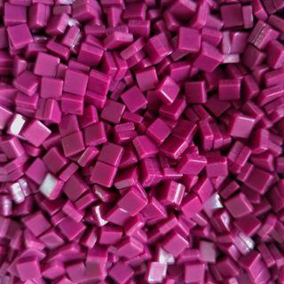 🚚 Deep Magenta Red Craft Resin Acrylic Mosaic Tiles Small ( 5mm x 5mm x 2mm)