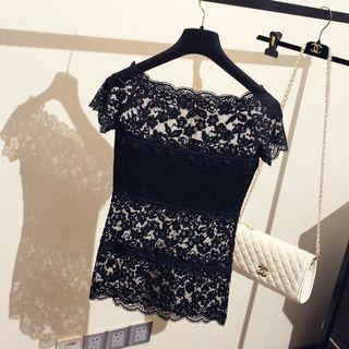 Black lace top #rayathon50