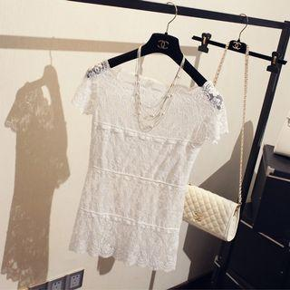 #CarousellFaster White Lace Top