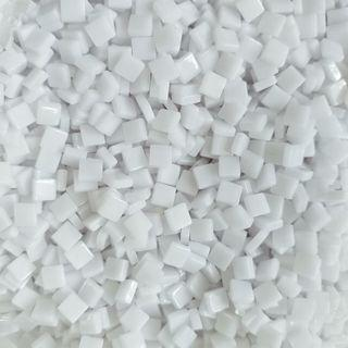 🚚 White Craft Resin Acrylic Mosaic Tiles Small ( 5mm x 5mm x 2mm)