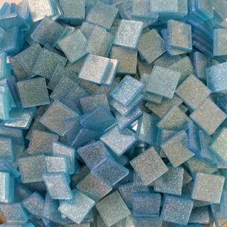 🚚 Light Sky Blue Craft Resin Acrylic Mosaic Tiles Large ( 10mm x 10mm x 2mm)