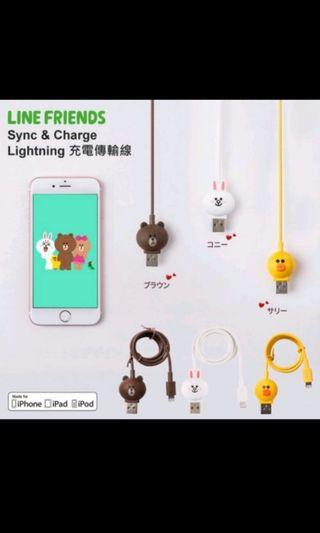 Line friends lightning cabke