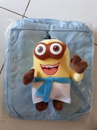 Minion 2 eye in apron plush