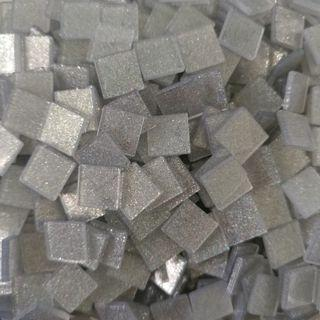 🚚 Silver Sparkle Glitter Craft Resin Acrylic Mosaic Tiles Large (10mm x 10mm x 2mm)