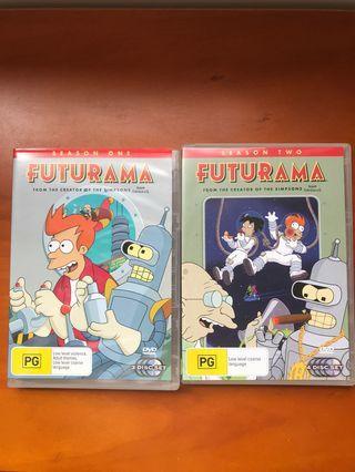 Futurama season 1 and 2