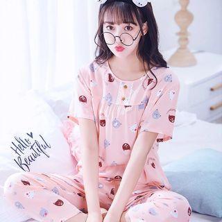 2019 100% Cotton Cute Ladies Pyjamas