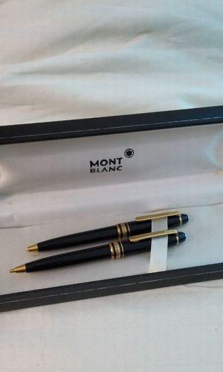 🚚 Montblanc MeisterStuck Gold Mini Pen and Pencil Vintage with Original Box RARE!