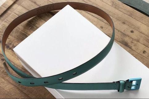 Ralph Lauren Leather Belt Blue Green Size Large
