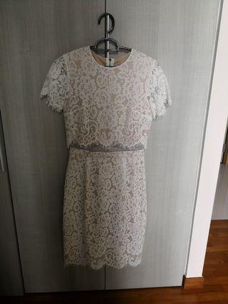 Intoxiquette white lace dress