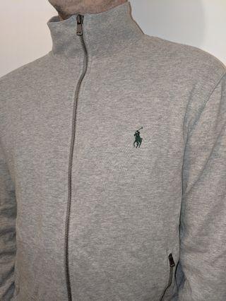 Grey Polo Zip up Jacket