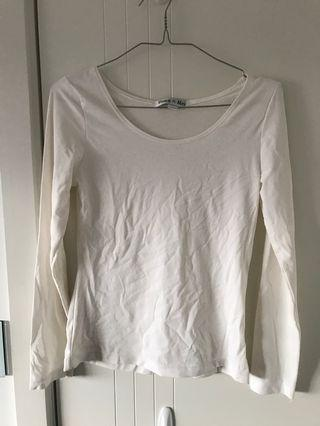 Cream long sleeve top