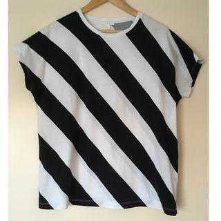 COS black & white stripe oversize top Size Eur M Near new