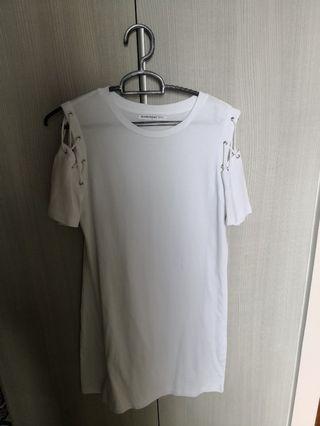 Glarmous white tshirt dress