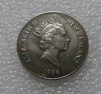 1986年royal visit新西蘭 英女皇 紀念 幣