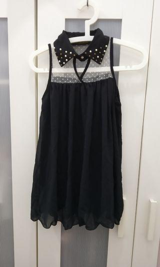 Chiffon Black Lace flowy sleeveless