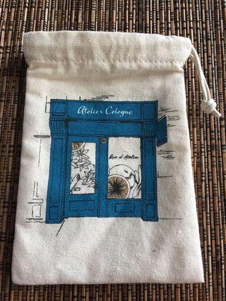 Atelier Cologne canvas bag 4x6 inches