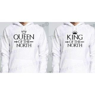 Queen & King Of The North Couple Hoodie (Unisex)
