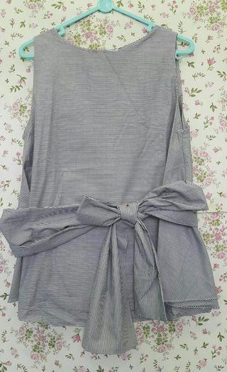 Beatrice Clothing - Black Stripe Top