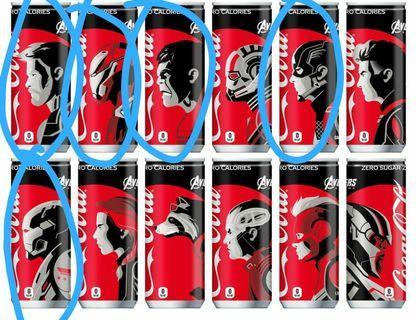 日版 可口可樂 復仇者 avenger 759 thor 雷神  ironman 鋼鐵俠  美國隊長 ca 綠巨人 hulk 戰爭機器 war machine
