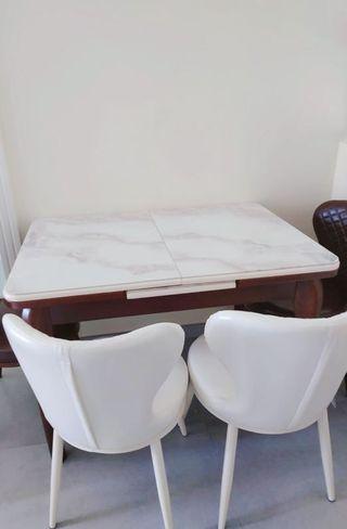 高級雲石伸展餐桌