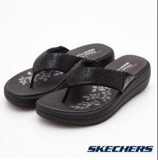 SKECHERS (女) 時尚休閒系列 夾腳拖 拖鞋