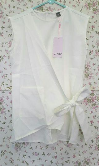J Rep White Bow Top