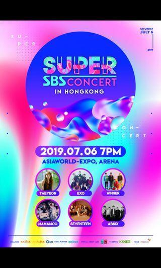 💙平售7月6日SBS concert  1480門票