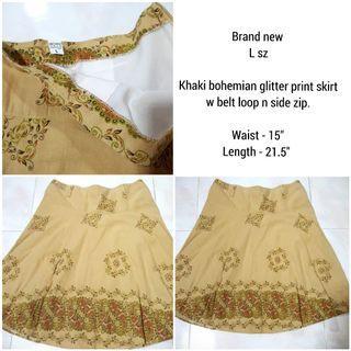 Bohemian glitter print Skirt