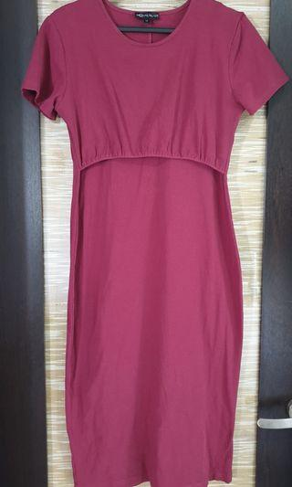 🚚 Preloved Jump Eat Cry Maternity/Nursing Dress