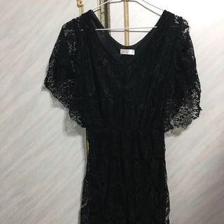 🚚 黑色洋裝(近七成新)衣長73cm