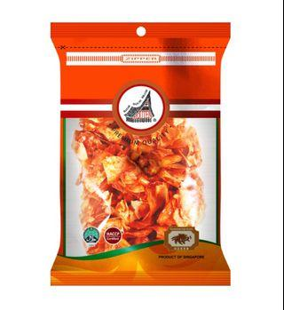 (BUNDLE OF 3) Houten Chilli Tapioca With Ikan Bilis & Peanuts 【100g/pkt】RESEALABLE ZIPLOCK BAG