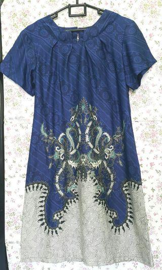 Arjuna Weda - Blue Batik Dress