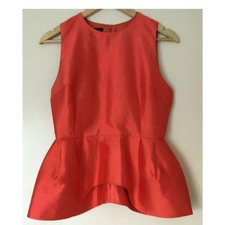 ELLERY Imperials skirted shell top Silk Wool Size 8 Near New Orig $395