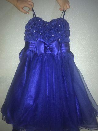 Party Dress biru cantik