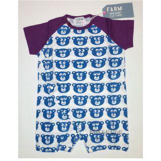 清倉價--FARM 藍色小熊短袖BB夾衣