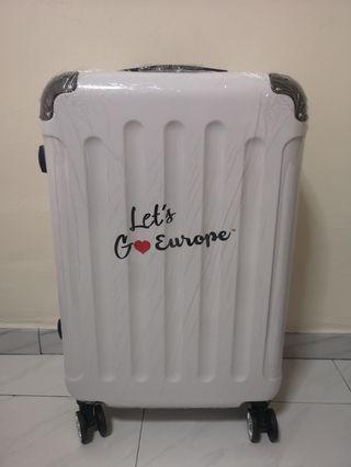 BN White Hardcase Europe Luggage