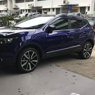 Nissan Qashqai 2014-2019 Door Visor