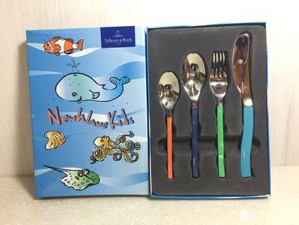 【德國唯寶Villeroy & Boch】兒童不鏽鋼餐具四件組
