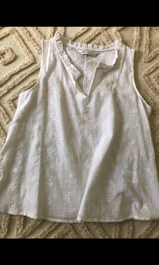 White broderie cami top