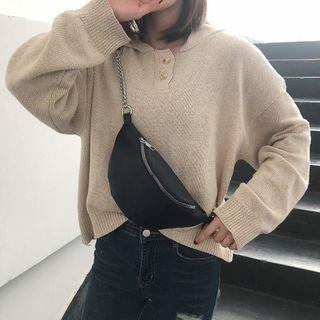 [FREE POS] PU Chain Waist Bag