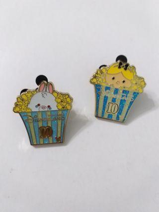 Disney pin pins 廸士尼徽章 襟章  (包郵) alice