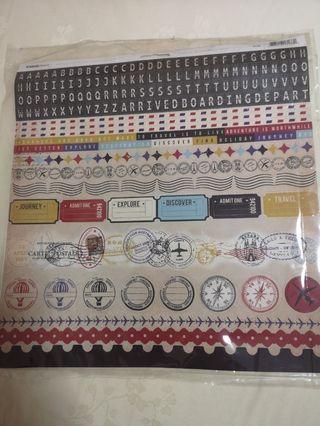 BN Paper Market Scrapbooking Stickers